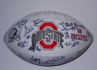 2002 OHIO STATE Buckeyes TEAM Signed Autographed FOOTBALL NATIONAL