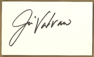 JIM VALVANO HAND SIGNED 5x3 INDEX CARD AUTOGRAPHED N CAROLINA STATE