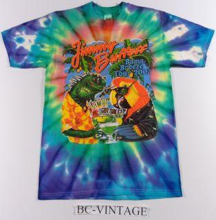 Vintage Jimmy Buffett All Over Tye Dye Print Bama Breeze Tour Concert