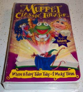 Jim Henson Presents Muppet Classic Theater 6 Fairy Tales VHS Tape