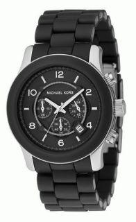 New Michael Kors Men MK8107 Black Dial Oversized Chrono Watch