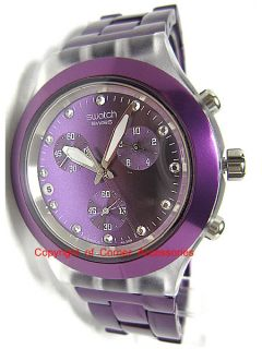 New Swatch Irony Chrono Swiss Purple SVCK4048AG Ladies Watch