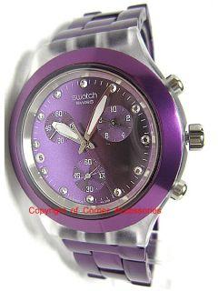 New Swatch Irony Chrono Swiss Purple SVCK4048AG Ladies Watch
