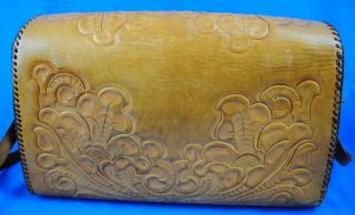 Vintage Womens Tooled Leather Hippie Purse Bag Jo O Jay