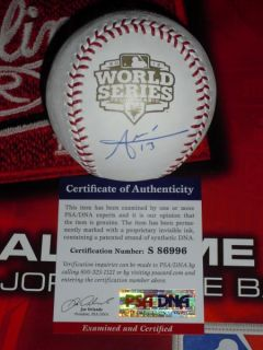 JOAQUIN ARIAS SIGNED 2012 WORLD SERIES BASEBALL, SAN FRANCISCO GIANTS