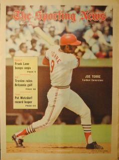 The Sporting News St Louis Cardinals Joe Torre Newstand Edition