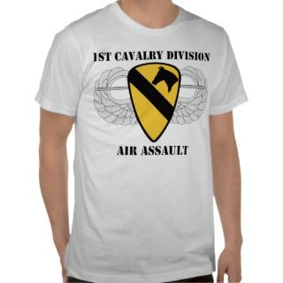 US Army 1st Cavalry Division Air Assault Tee Shirts