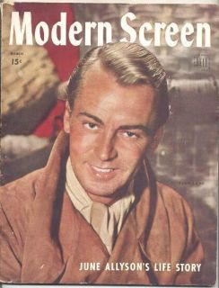 1945 Modern Screen Magazine Jimmy Stewart