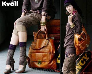 JJ Womens Korean Faux PU Leather Large Hobo Clutch Handbag Shoulder