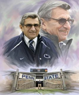Joe Paterno Giclee Print on Canvas B 0306