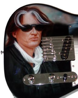 Aerosmith Autograph Joe Perry Signed Airbrush Guitar Proof PSA UACC RD