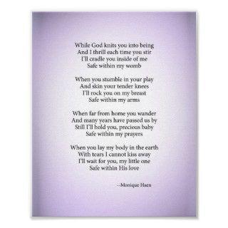 Poema del bebé posters de