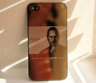 Gold Plated iPhone 4 Rear Housing Back Cover Steve Jobs Tribute