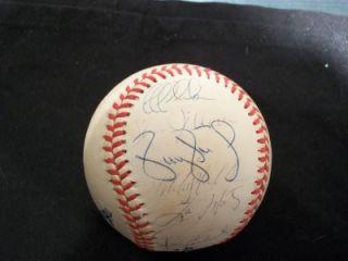 1999 Yankees World Series Team Signed Baseball JSA LOA Tino River