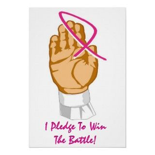 Breast Cancer Awareness I Pledge To Win The Battle Print