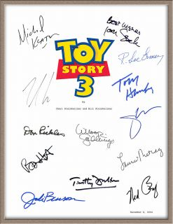 Tom Hanks Tim Allen Michael Keaton Joan Cusak Signed x13 Toy Story 3