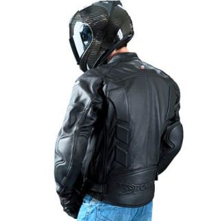 Joe Rocket Sonic Leather Motorcycle Jacket BK XXL Tall