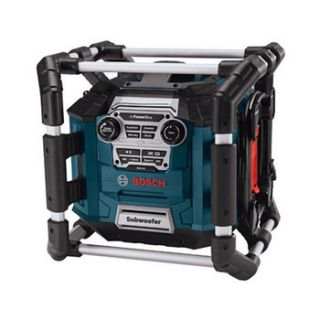 BOSCH PB360S RT POWER BOX JOBSITE RADIO AM/FM STEREO + MP3 COMPATIBLE
