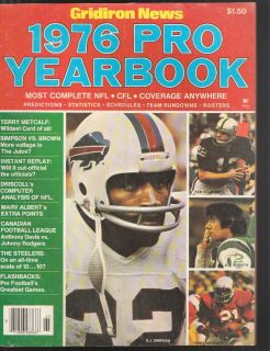 News Pro Yearbook O J Simpson Joe Namath Ken Stabler Nice