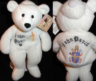 Pope John Paul 2nd 264th Pope 1999 Plush Teddy Bear