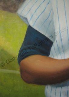 Elston Howard New York Yankees   Original Baseball MLB Oil Painting on
