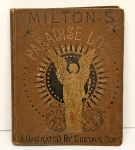 Antique Book Milton Paradise Lost Gustave Dore NY 1878
