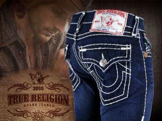 True Religion Jeans Mens Joey Super T Black Jack New