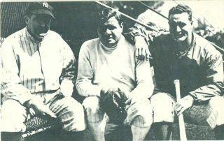 Babe Ruth Joe McCarthy Lou Gehrig C 1975 Postcard