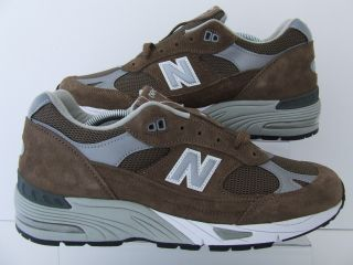 Mens New Balance 991 Kah Brown Suede Retro Trainers Sneakers Made in