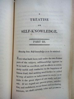 1806 Antique 264P Victorian Fine Binding Leather Self Knowledge