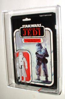 1983 Palitoy Star Wars ROTJ Hoth Stormtrooper Mint on 65 Back Card AFA