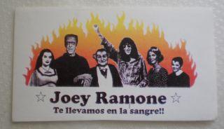 Ramones Joey Ramone Sticker Pegatina 14x8 Cm