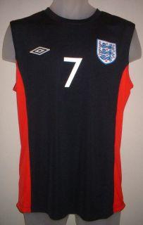 England Beckham BNWT Football Soccer Vest Jersey Shirt Umbro New Sizes