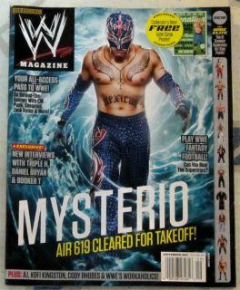 WWE Magazine September 2012 John Cena Poster Free Inside Mysterio