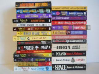 Robert B Parker James Michener John D MacDonald Paperback Books