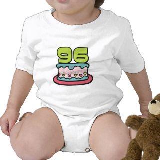 Torta de cumpleaños de 96 años t shirts de