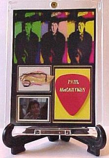 Beatles Paul McCartney Neck Scarf Swatch Film Frame and Guitar Pick