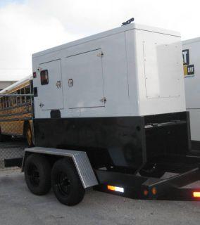 New 115 KVA 92 KW Generator John Deere Engine Trailer