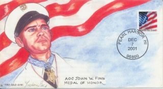 AOC John Finn Medal of Honor Remember Pearl Harbor Hawaii Doris Gold