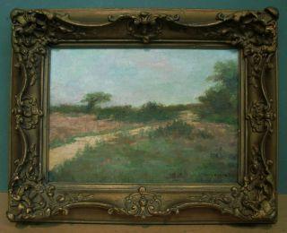 Landscape Of Green Fields Under Blue Skies by John Francis Murphy