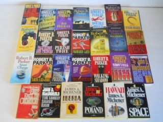 Robert B Parker James Michener John D MacDonald Paperback Books