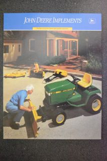 John Deere Brochure Implements 265 Cover Riding Lawn Mower Garden