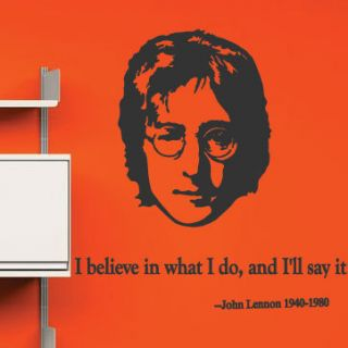 John Lennon Quote Wall Stickers Wall Decals