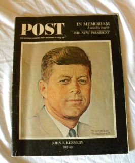 John F Kennedy Historical Collectors Edition Post Magazine December 1963 JFK