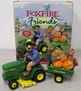 Foxfire by Lowell Davis Collectible Bears w John Deere 320 Tractor 5164