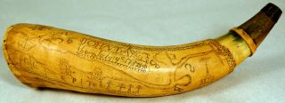 Revolutionary War Map Powder Horn John Day 1784 Swayze Guthman Collection w Book