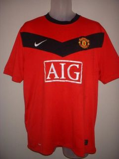 Manchester United Man UTD Nike Red Home Football Soccer Shirt Jersey Uniform M