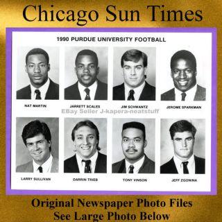 1990 Purdue University Nat Martin Jarrett Scales Jim Schwantz Jerome Sparkman