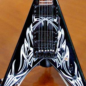 Miniature Guitar Kerry King Slayer Metal Master V