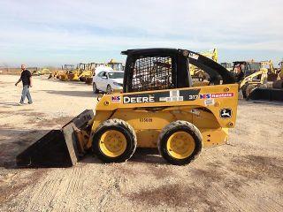 John Deere 317 Skid Steer Loader Rubber Tire Orop Snowplow Machine Hand Controls